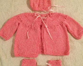 Sparkling  Pink Baby Set, 4 pc.