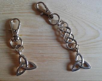 Key ring triskelion Celtic carabiner Hook