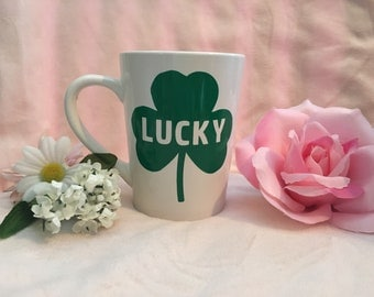 St Patrick's Day Mug - Personalized Coffee Mug - Lucky