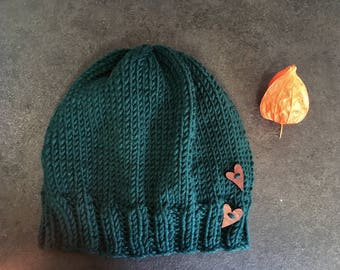 Wool Hat with heart