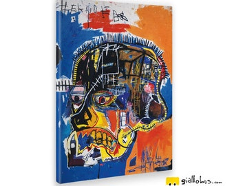 Modern paintings-Jean Michel Basquiat-Untitled-Yellow BUS