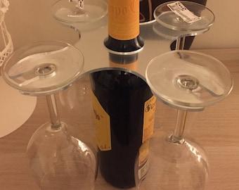 4 Wine Glass Holder, Wine bottle holder