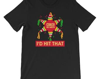 Cinco De Mayo Shirt Cinco De Brisko Men Women I'd Hit That Mexican Fiesta Party