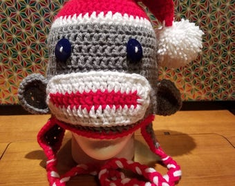 HoHoHoliday Sock Monkey Hat