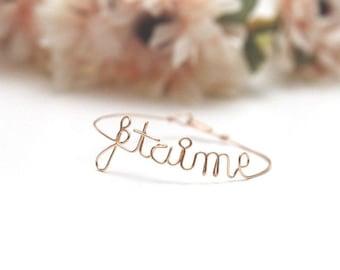 Personalized Bracelet - Bangle - name - message jewelry - gift idea Valentine's day