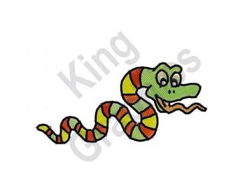 Cartoon Snake - Machine Embroidery Design, Snake