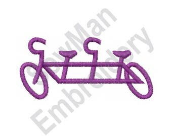 Tandem Bicycle  - Machine Embroidery Design, Bicycle