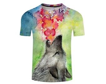 Wolf Shirt, Wolf Shirts, Wolf Tee Shirt, Wolf Tshirt, Wolves Shirt, Wolf T-shirt, Wolf, Wolves, Wolves Tshirt, Shirt, Wolf Tee - Style 19