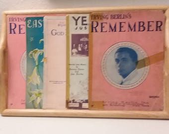 Vintage Sheet Music - Irving Berlin-related - Five Sheets; Four Titles