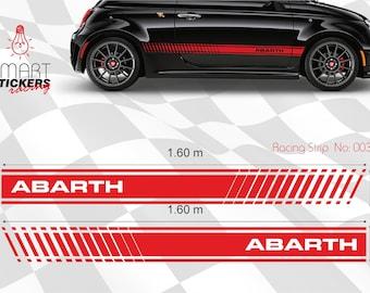 Fiat Abarth 500 cc Stickers Logo Car BODY Decal STRIPES