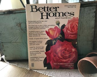 Better Homes and Gardens March 1976 Edition