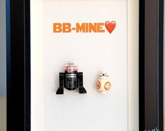 Star Wars, Lego, Lego minifigures BB8 for daddy husband birthday anniversary gift inspired by LEGO