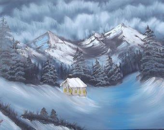 A Dark Winter Oil Painting