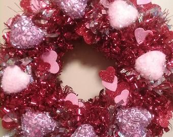 "Valentines 10"" wreath"
