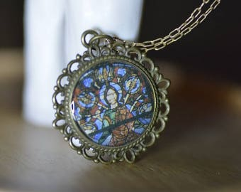 Stained Glass Necklace | Pendant Necklace | Resin | Church Window