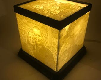 Lithophane Cube Light