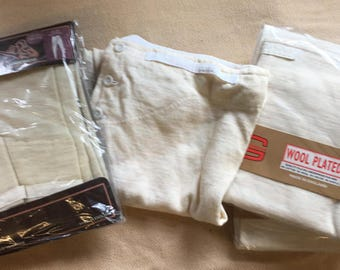Vintage Long Johns Underpants Drawers.Trad style button fly and brace tapes (ONE PAIR)