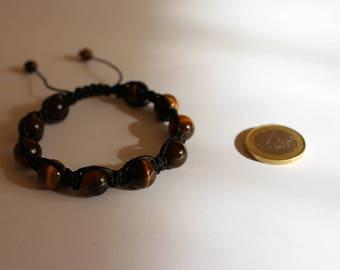 Shamballa Macrame bracelet with tiger eye
