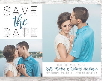 Custom Amethyst Designed Save the Date