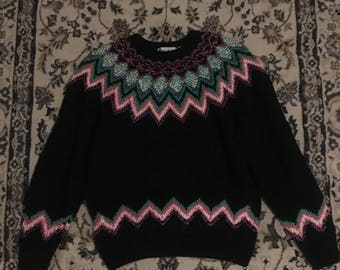 80s Sweater, Knit By Hand
