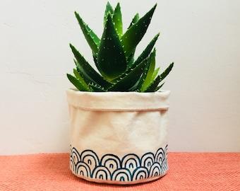 Fabric Plant Pot Akemi Indoor Planter Cactus Succulent Storage Bag Pouch Basket