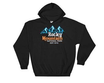 Vintage Rocky Mountain National Park Hooded Sweatshirt