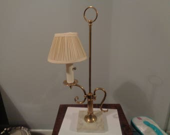 Vintage Brass Lamp with Marble Base