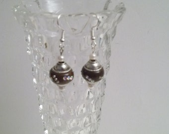 Brown Orb Earrings