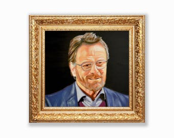 Bryan Cranston, Celebrity Portrait, Curb Your Enthusiasm, Original Oil Painting, TV Inspired Art, Breaking Bad, Larry's Therapist, Fine Art