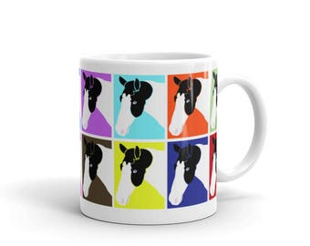Paint Horse Multi-Color Coffee Mug, Horse Lovers Gift 11-oz. or 15-oz.