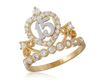 Gold Princess Crown Ring