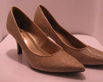 Fioni Night Gold Glitter heels  Size 7 1/2