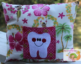 Hula Girl Tooth Fairy Pillow // Kids Tooth Pillow // Tooth Fairy Pillow // Hawaiian Pillow