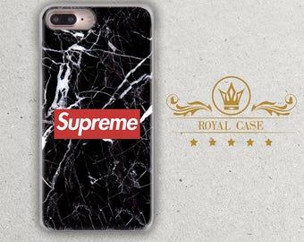 Supreme, iPhone 7 Plus case, iPhone 6S Case, iPhone 6S Plus Case, iPhone 7 case, iPhone 8 Case, iPhone 8 Plus Case, Black Marble, 075