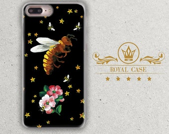 Bee, iPhone 8 Case, iPhone 6S Case, Flowers Iphone case, iPhone 7 case, iPhone 7 Plus case, iPhone 6S Plus Case, iPhone 8 Plus Case, 093