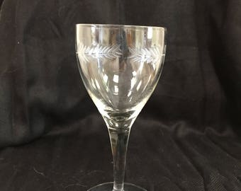 "Crystal Cordial Glass (5 1/4"") in an Unknown Pattern"