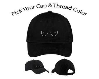 Boobs Dad Cap, Boobs Dad Hat, Dad Cap, Dad Hat, Funny Hat, Cap, Hat, Cap Daddy