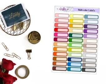 Multi-color Label Stickers