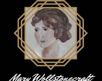 Mary Wollstonecraft Folded Cards - Badass Ladies of History - Feminist Greeting Cards