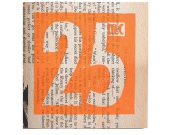 Set of 6 Linoprint Christmas Card–Christmas Card–Set of Six Christmas Cards and Envelopes–Linoprint card–Vintage Paper card