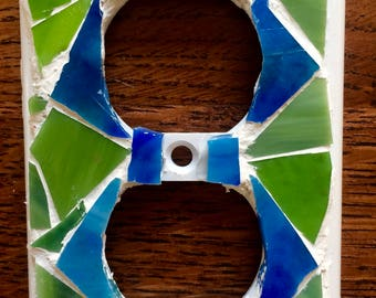Colorful mosaic outlet cover