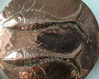 Vintage large copper jelly mould