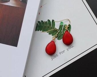 Handmad Simple European Sytle Stone Earrings