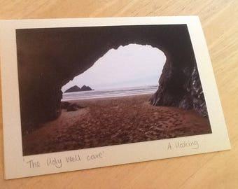 Holywell Bay cave, Cornwall.