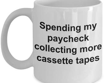 Funny Cassette Mug - Collecting More Cassette Tapes