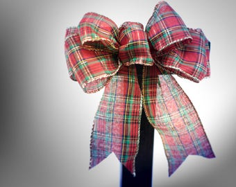 Plaid bow, christmas bow