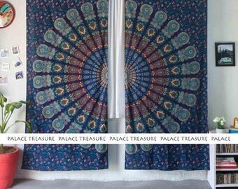 Mandala Curtains Boho - Peacock Dream Small