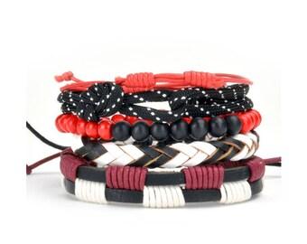 5 Pack Cord Bracelet Set