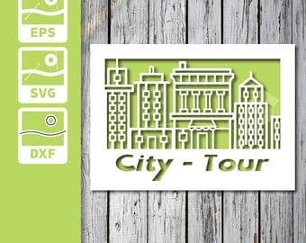 Quick cuttable card  - City tour
