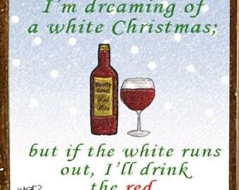 White Christmas FUNNY Christmas Ornament